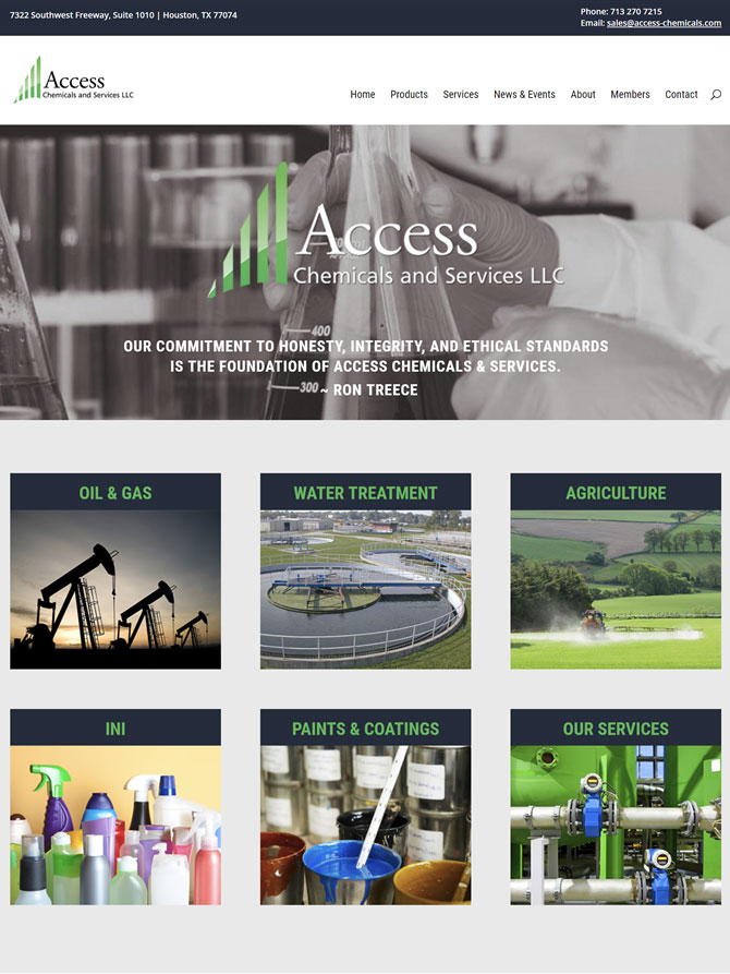 Access Chemicals Website