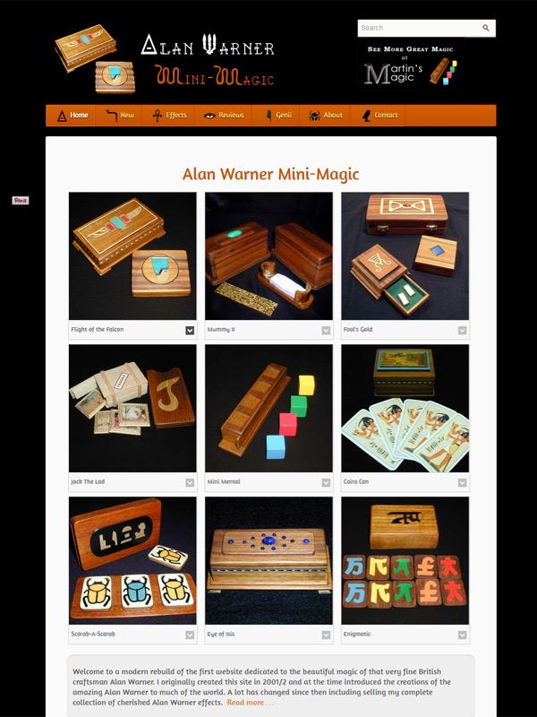 Alan Warner Mini-Magic Website