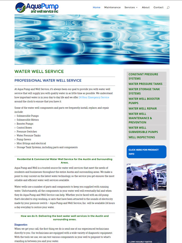 Aqua Pump and Well Website