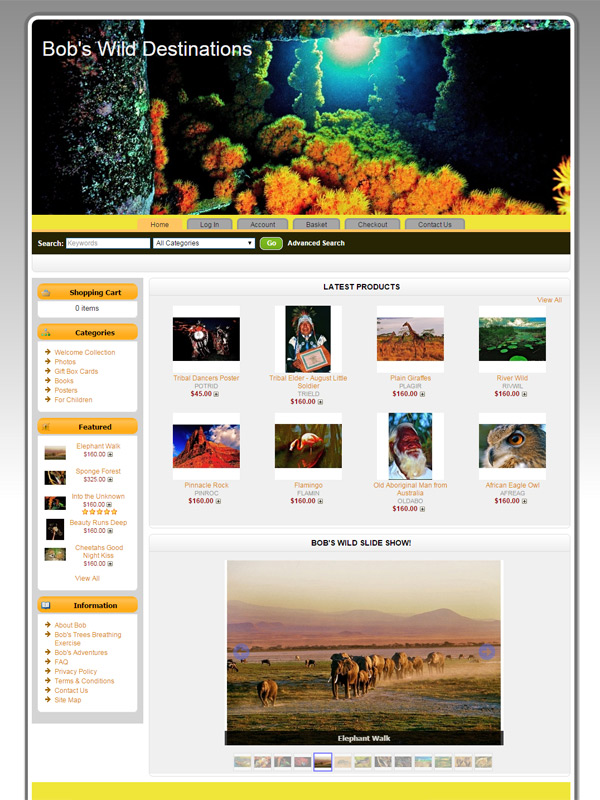 Bob's Wild Destinations Website