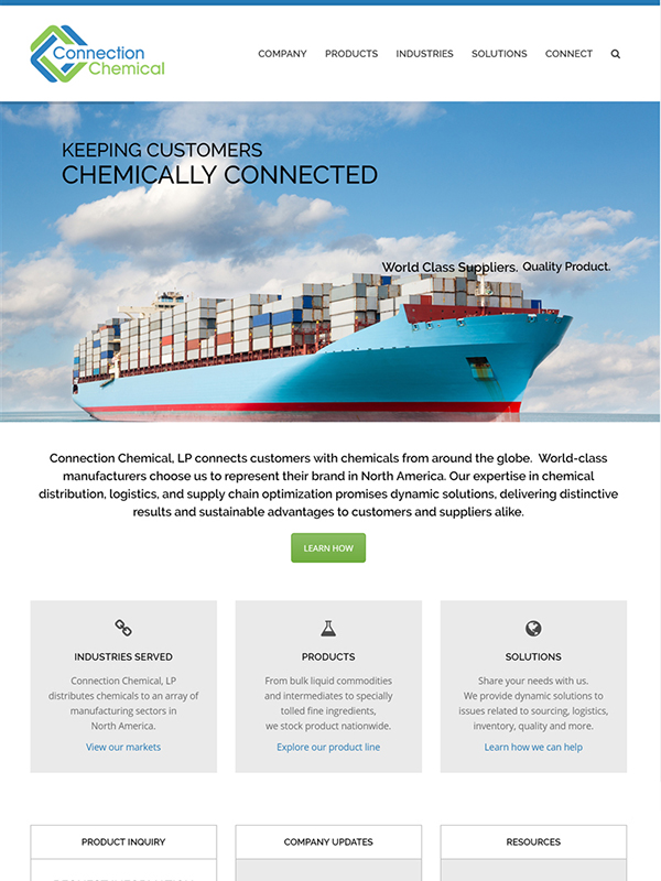 Connection Chemical Website