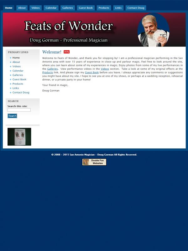 Feats of Wonder Website