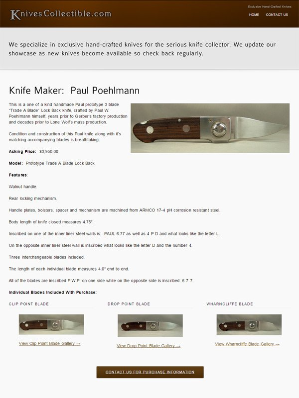 Knives Collectible Website