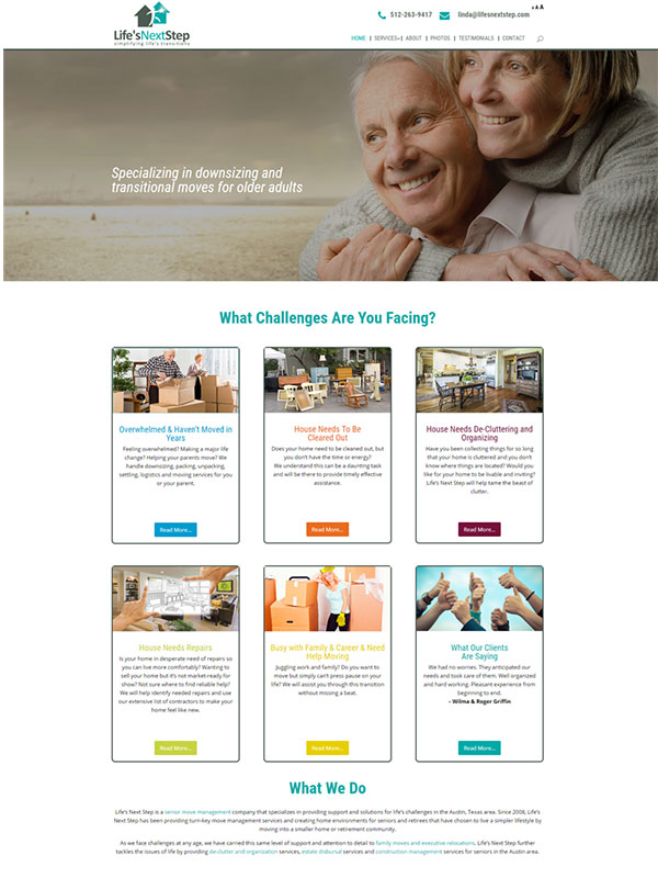 Life's Next Step Website