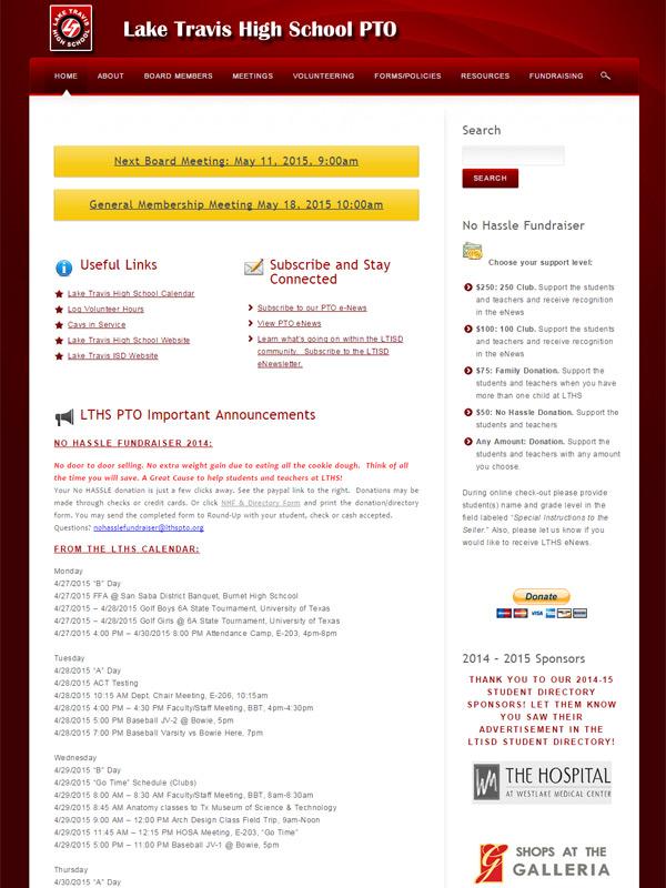 Lake Travis High School PTO Website
