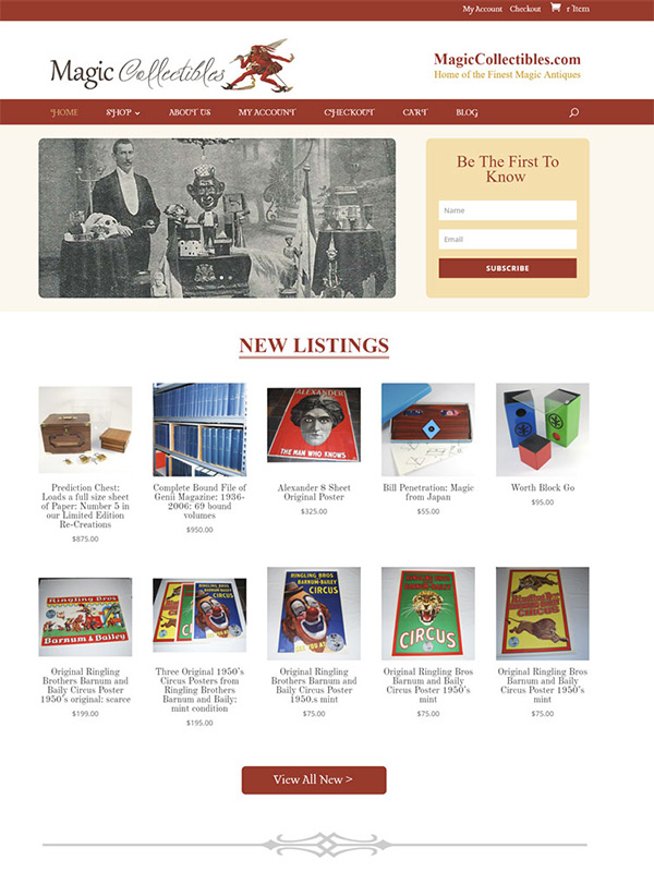 Magic Collectibles Website