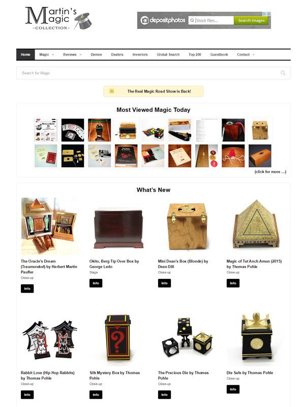Martin's Magic Website