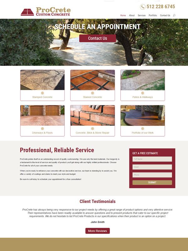 ProCrete Website