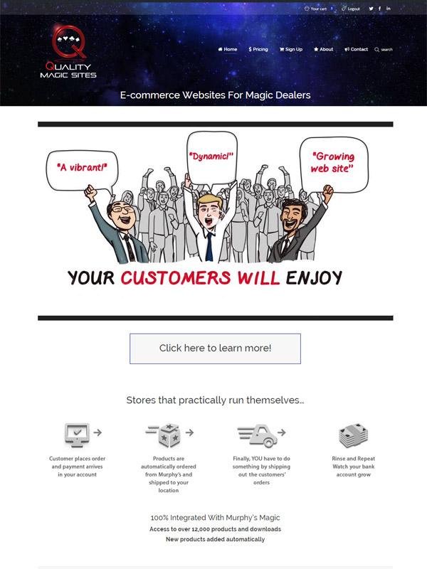 Quality Magic Sites Website