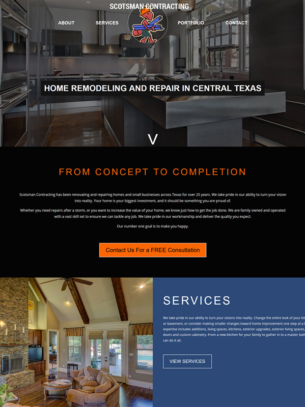 Scotsman Contracting Website