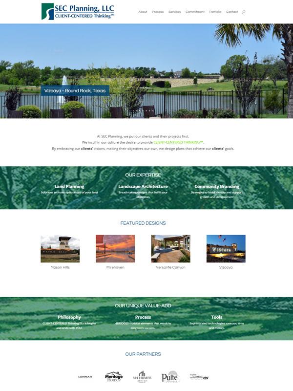 SEC Planning Website Design