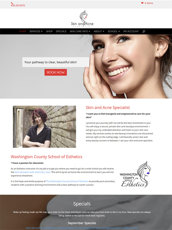 Rachel's Skin Suite Website