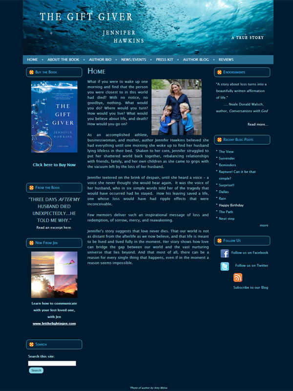 The Gift Giver Book Website