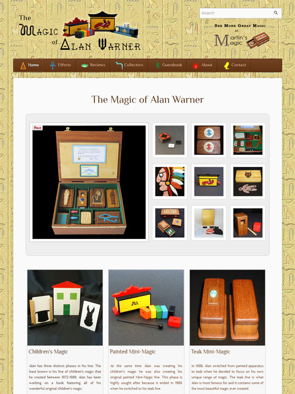 The Magic of Alan Warner Website
