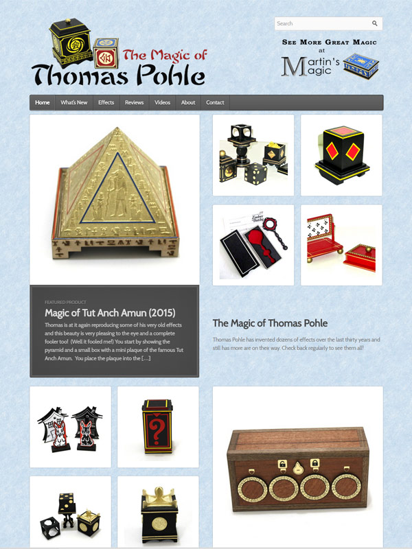 The Magic of Thomas Pohle Website