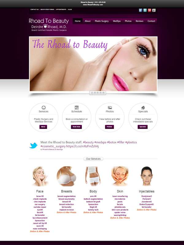 The Rhoad to Beauty Website