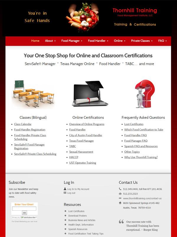 Thornhill Training Website