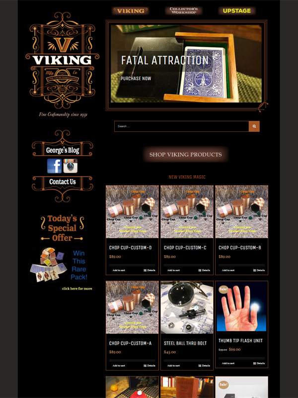 Viking Magic Website